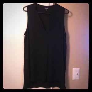 Black sleeveless Ana blouse.